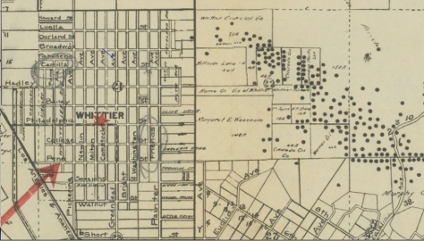 Oil Wells Dotting the Whittier Hills in 1911
