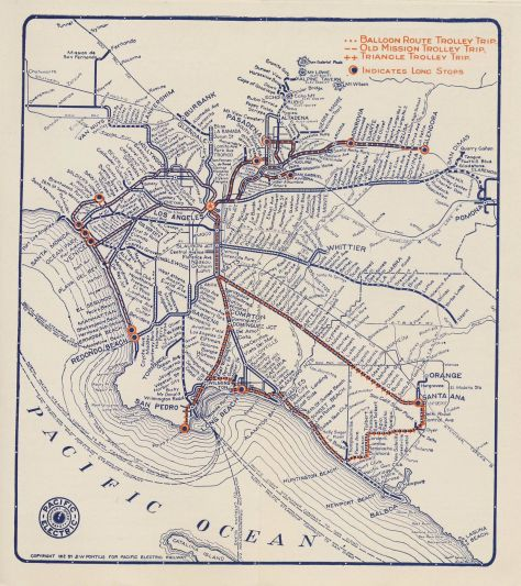 Pacific Electric Line Map