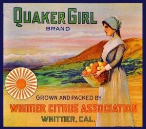 Quaker Girl - Whittier Citrus Ass'n