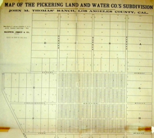 Pickering Land & Water Company Subdivision Jonathan Bailey House - Whittier CA