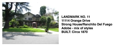 11114 Orange Dr. - Harriet Strong House, Adobe - mix of styles, Whittier Historic Landmark #11