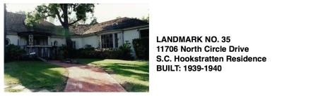 11706 North Circle Drive, Whittier Historic Landmark #35