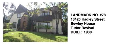 13420 Hadley Street -Bewley House, Tudor Revival, Whittier Historic Landmark #78
