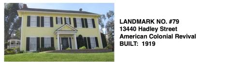 13440 Hadley Street - American Colonial Revival, Whittier Historic Landmark #79