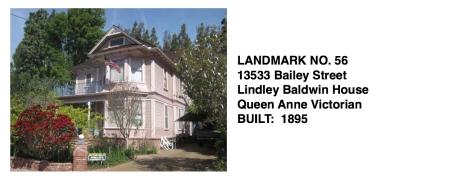 13533 Bailey St. - Lindley Baldwin House, Whittier Historic Landmark #56