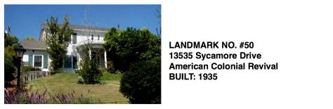 13535 Sycamore Drive, Whittier Historic Landmark #50
