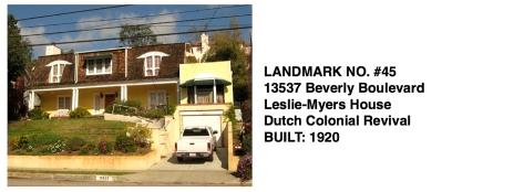 13537 Beverly Blvd., Leslie-Myers House, Whittier Historic Landmark #45