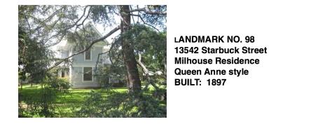 13542 Starbuck St. - Milhouse Residence, Whittier Historic Landmark #98
