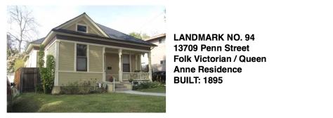 13709 Penn St. - Folk Victorian, Whittier Historic Landmark #94