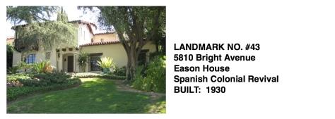 5810 Bright Avenue - Eason House, Spanish Colonial Revival, Whittier Historic Landmark #43