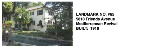 5810 Friends Avenue - Mediterranean Revival, Whittier Historic Landmark #65