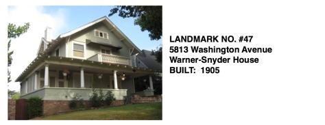 5813 Washington Avenue - Warner-Snyder House, Whittier Historic Landmark #47