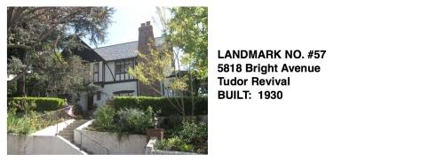5818 Bright Avenue -Tudor Revival, Whittier Historic Landmark #57