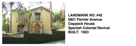 5821 Painter Avenue -Coppock House, Spanish Colonial Revival, Whittier Historical Landmark #42