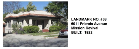 6011 Friends Avenue - Mission Revival, Whittier Historic Landmark #68
