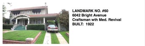 6042 Bright Avenue - Craftsman wth Med. Revival, Whittier Historic Landmark #60