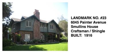 6045 Painter Avenue - Smullins House, Craftsman / Shingle, Whittier Historic Landmark #23