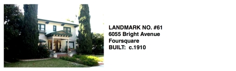 6055 Bright Avenue, Foursquare, Whittier Historic Landmark #61