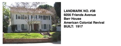 6056 Friends Avenue - Barr House, American Colonial Revival, Whittier Historic Landmark #38