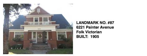 6221 Painter Avenue - Folk Victorian, Whittier Historic Landmark #87