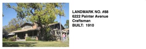 6222 Painter Avenue - Craftsman, Built 1910, Whittier Historic Landmark #88