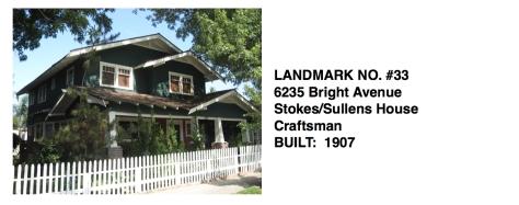 6235 Bright Avenue - Craftsman, Stokes/Sullens House, Whittier Historic Landmark #33