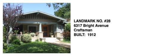 6317 Bright Avenue - Craftsman, Whittier Historic Landmark #28