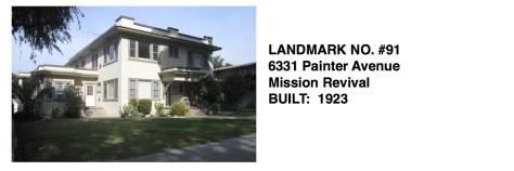 6331 Painter Avenue - Mission Revival, Whittier Historic Landmark #91