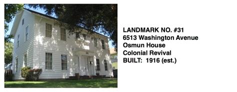 6513 Washington Avenue - Colonial Revival, Whittier Historic Landmark #31