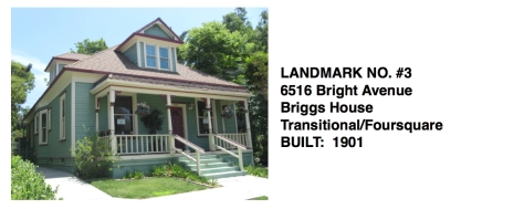 6516 Bright Ave. - Transitional Foursquare style