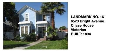 6523 Bright Ave - Chase House, Victorian, Whittier Historic Landmark #16
