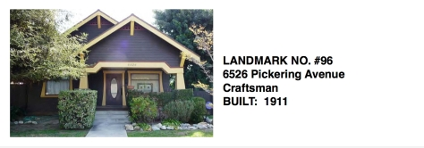 6526 Pickering Avenue - Craftsman, Whittier Historic Landmark #96