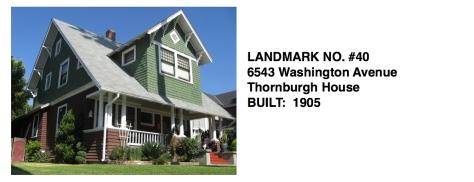 6543 Washington Avenue - Thornburgh House, Whittier Historic Landmark #40
