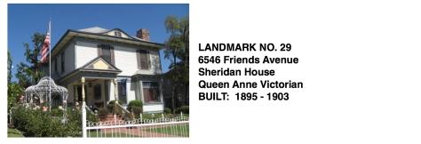 6546 Friends Ave. - Sheridan House, Queen Anne Victorian, Whittier Historic Landmark #29