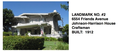 6554 Friends Avenue - Johnson-Harrison House, Craftsman, Whittier Historic Landmark #2