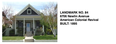 6706 Newlin Ave. - American Colonial Revival, Whittier Historic Landmark #84