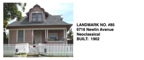 6716 Newlin Avenue - Neoclassical style, Whittier Historic Landmark #85
