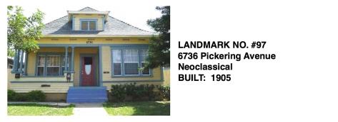 6736 Pickering Avenue - Neoclassical, Whittier Historic Landmark #97