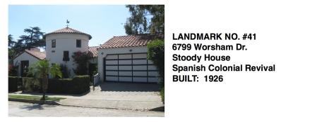 6799 Worsham Dr. - Stoody House, Spanish Colonial Revival, Whittier Historic Landmark #41