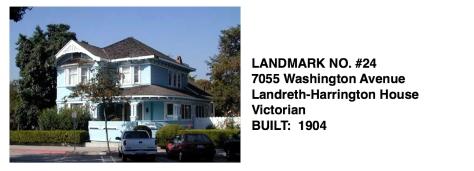 7055 Washington Avenue - Victorian style, Whittier Historic Landmark #24