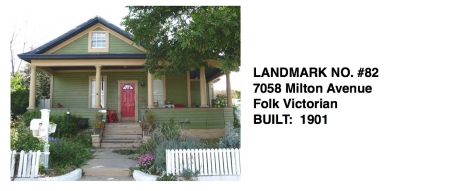 7058 Milton Avenue - Folk Victorian style, Whittier Historic Landmark #82