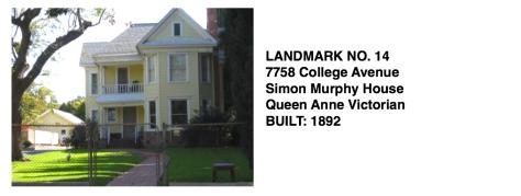 7758 College Ave. - Simon Murphy House, Queen Anne Victorian, Whittier Historic Landmark #14