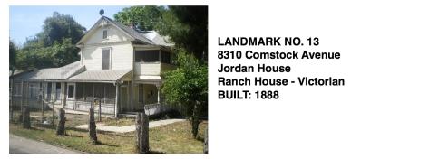 8310 Comstock Ave. - Jordan House, Ranch House - Victorian, Whittier Historic Landmark #13